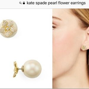 Kate Spade reversible pearl and flower earring